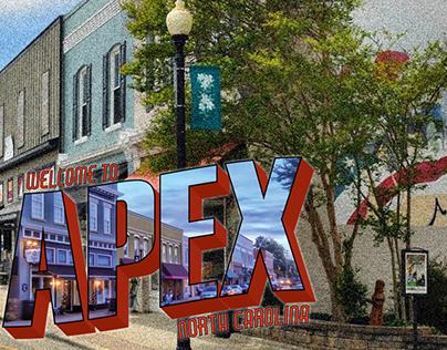 Apex NC Postcard