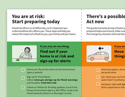 One-page flood information leaflet