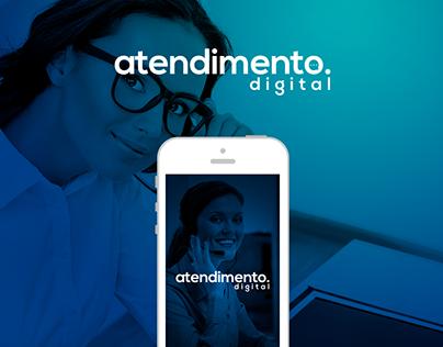 Atendimento Digital - Logo, Cartão de visita, Aplicativ