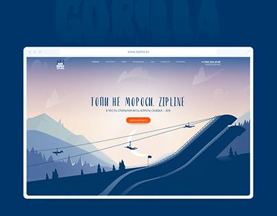 Gorilla Zipline - landing page