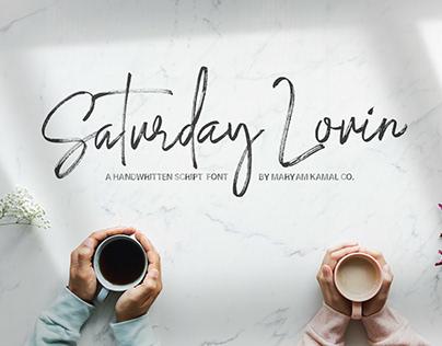 Saturday Lovin Font Collection