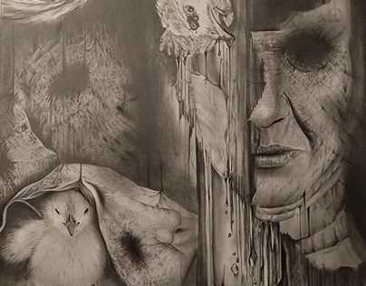 Surrealist Pencil Drawing