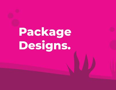 Package designs.