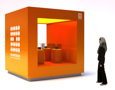 Nanotech product launch display concept