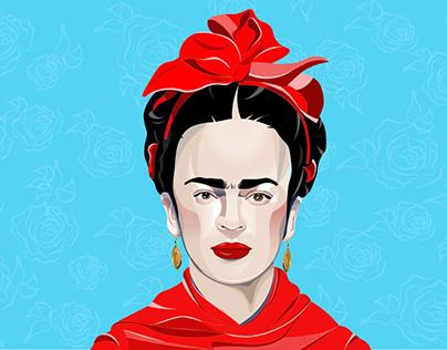 Frida created in Adobe Illustrator