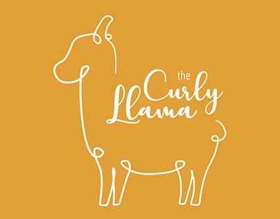 Curly Llama Logo Animation