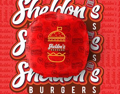 Sheldon's Burgers - Burger Startup Branding