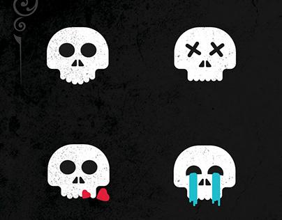Skull emojis