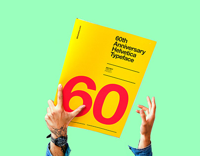 6Oth Anniversay   Helvetica