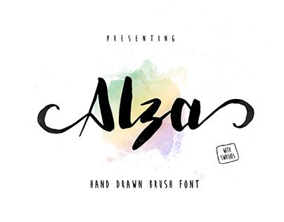 Alza | Script Brush Font