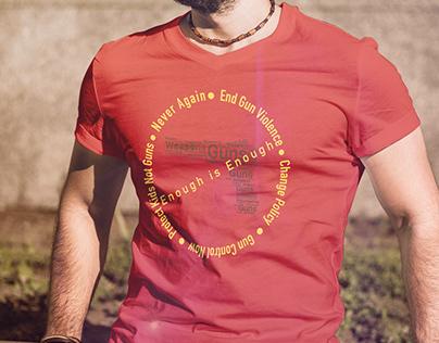 Anti Guns T-Shirt / Weapons Control Tee Design