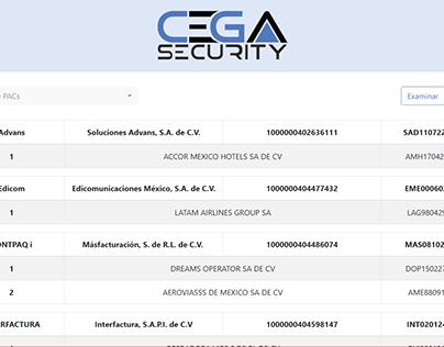 CEGA Security Plataform