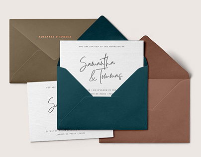 Stylish Envelope Mockup
