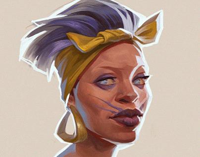 AfroAmerican Witch portrait