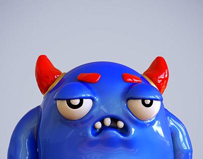 Daily Monster #01 - The Blue Badass Monster