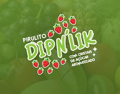 Embalagem: Pirulito Dipn'lik