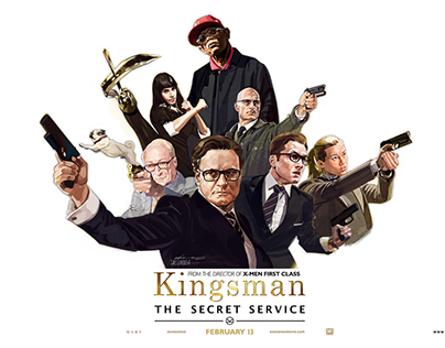 Movie 'Kingsman:The Secret Service' Illustration