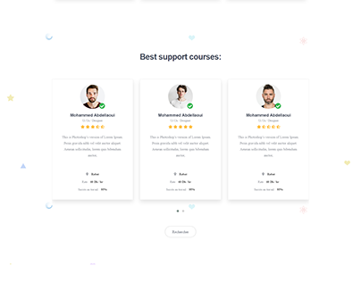 UI / UX Redesign Concept: OneProf.ma Desktop Website