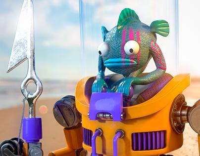 Fish Guy in mech suit!!!