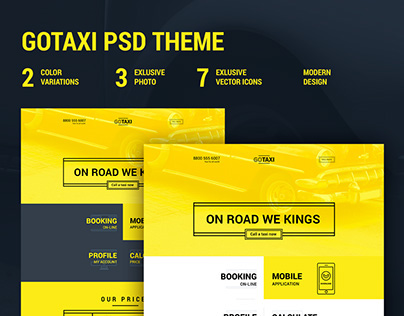 GOTAXI - Modern website psd template
