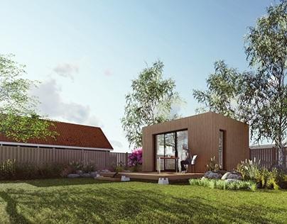 Garden office concept.