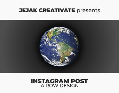 Instagram (Row) Post Design - Love the Earth