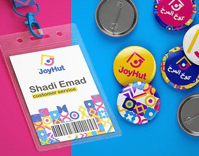 JoyHut logo and brand identity design