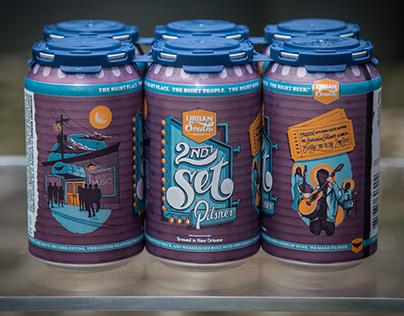 2nd Set Pilsner | Beer Can Design