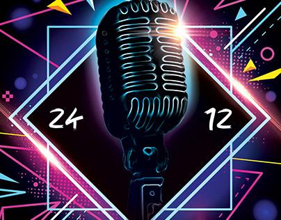 Karaoke FREE PSD Flyer Template