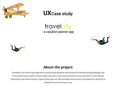 Travelally - Travel app UX case study
