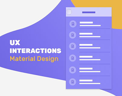 UX INTERACTIONS | Functional Animations Wireframe