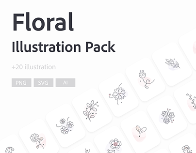 Floral | free vector illustration package
