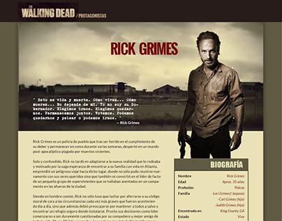 Web The Walking Dead / protagonistas