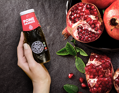 Organic Farm - pomegranate juice packaging