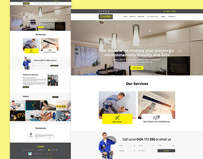 Air Conditioning And Heating PSD Template