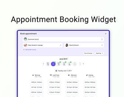 Appointment booking widget