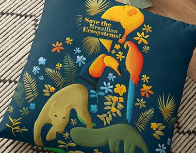 Brazilian Ecosystems - illustration for P.O.D websites