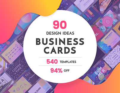 90 in 1 Business Card Design Templates Bundle