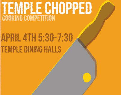 Temple Office of Sustainability: Temple Chopped Poster