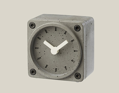 Concrete Table Clock / TimeBrick