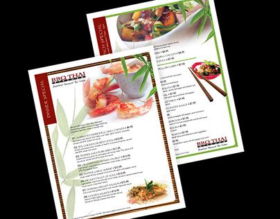 BBQ THAI Menu Design