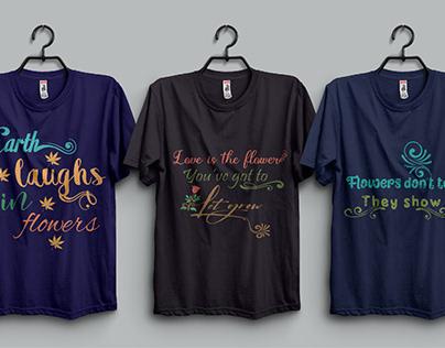 Flower's Based T-Shirt Designs.