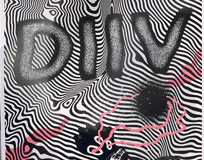 DIIV (poster screenprint) Mar del Plata, AR.