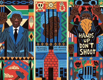 """ILLUSTRATIONS FOR """"ART OF PROTEST"""" BY DE NICHOLS"""