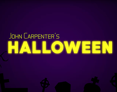 Halloween title sequence motion graphics