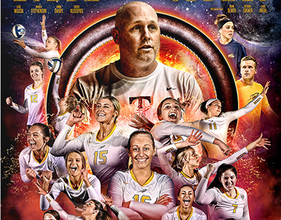 Toledo Volleyball Superhero Night Poster
