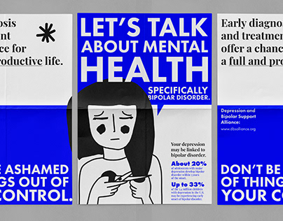 Let's Talk About Mental Health - Bipolar Poster