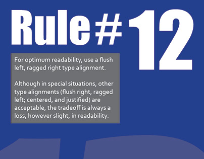 Rule #12 - 19 Rules of Typography