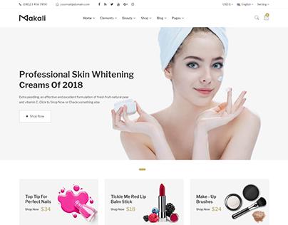 Makali - Cosmetics and Beauty eCommerce Bootstrap4 Temp