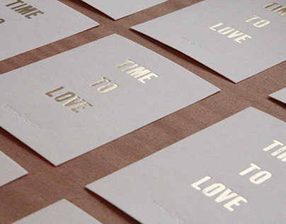 Time to love - postcard